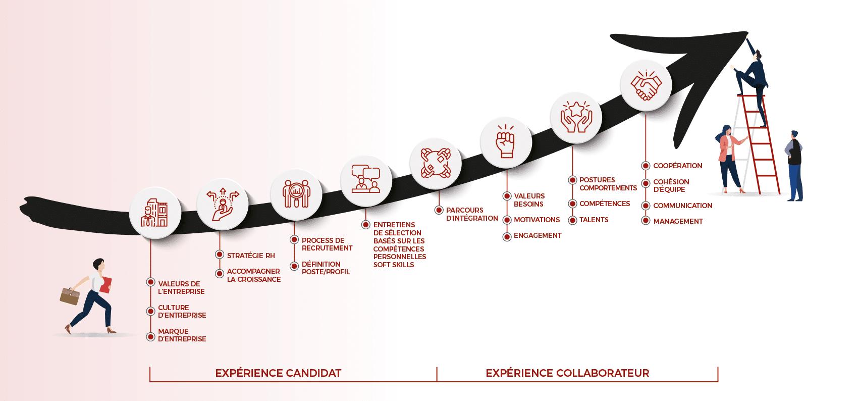 Les étapes de l'accompagnement RH par L.I.A